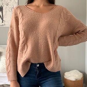 Love Culture knitted open-back sweater